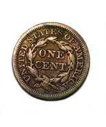 1849 Large Cent US Coin Penny Braided Hair - $39.59
