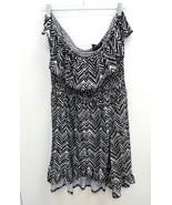 Rouge Collection Womens Dress Plus 3X Off Shoulder Zebra Black White Ruf... - $16.99