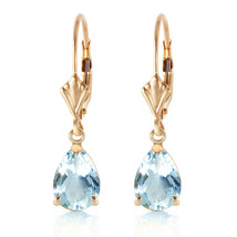 2.85 Carat 14K Solid Gold Extravaganza Aquamarine Earrings - $335.85