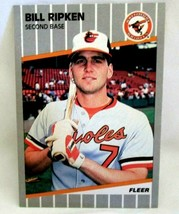BILL RIPKEN 1989 FLEER _UCK FACE BLACKED OUT ERROR CARD GEM10? RARE!ORIO... - $9.89