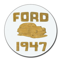 1947 Ford Dealership Reproduction Aluminum 11.75 Inch Circle Sign - $19.75