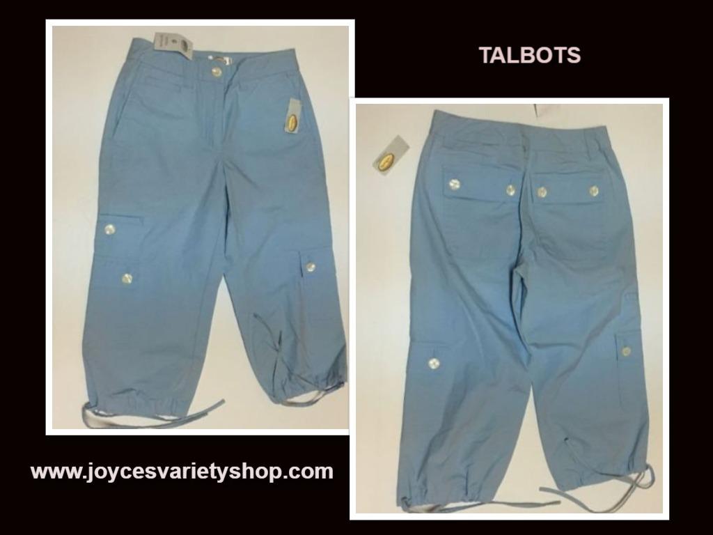 Talbots blue capris web collage