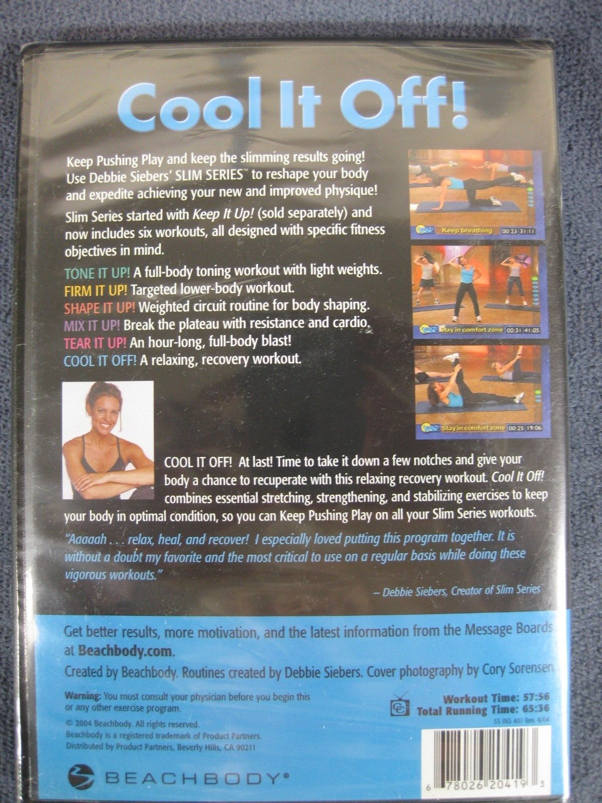 Debbie Siebers Slim in 6 Cool It Off Beachbody DVD Stretch Recovery New Sealed image 2