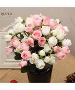 1 Bunch 15 Heads Artificial Flowers Rose Bouquet For Wedding Flower Arra... - $8.38+