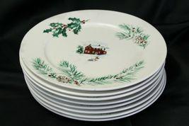"""Farberware White Christmas 2118 Dinner Plates 10.5"""" Lot of 8 image 7"""