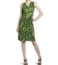 Bcbg Max Azria Meri Vestido PEQUEÑA S Evergreen Verde Drapeado Estilo Wrap - $40.36