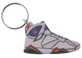 Good Wood NYC Olympic 7 Sneaker Keychain Wht/Red/Blu VII Shoe Key Ring Key Fob