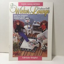 Wicker Lounge Plastic Canvas Pattern Fashion Doll Barbie  House of White... - $9.74