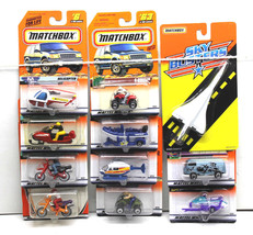 11 pc Matchbox Die Cast Car Lot Helicopter+Boat+ATV+Snowmobile+Air Franc... - $32.71