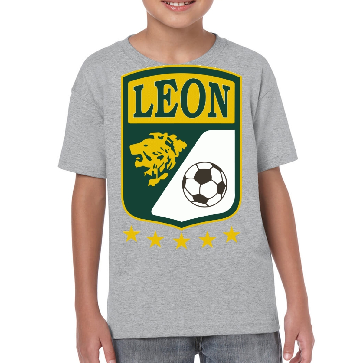 SOCCER Mexican Primera Club Leon Logo 0644 Kids T-Shirt for sale  USA