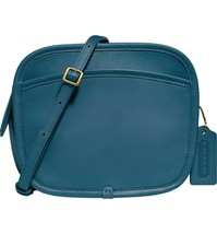 NWT Coach x Runway Buy Now Zip Leather Crossbody Bag mineral blue - $399.99