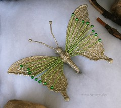 Pottery Barn Glitter Butterfly Ornament -NWT- For Beautiful DÉcor, Just Wing It! - $17.95