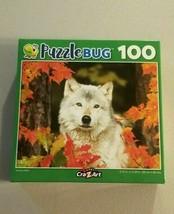 Puzzlebug White Wolf Autumn Wolf Jigsaw Puzzle Wild Life 100 Pcs New - $6.93