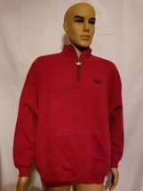 Rare Vintage Adidas Made In USA 3 Stripe Tier Leaf Logo Red Pullover Men... - $31.93