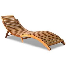 vidaXL Solid Wood Sunlounger Brown Patio Day Sub Bed Outdoor Garden Pool... - $93.99