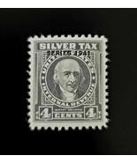 1941 4c Internal Revenue, Albert Gallatin, Silver Tax, Mint NH, RG61 Ove... - $15.99