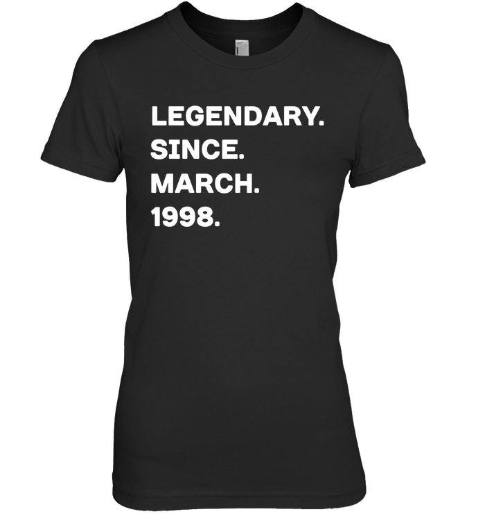 Primary image for Legendary Since March 1998 20th Years Old Birthday Shirt
