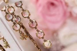 NEW AUTH Christian Dior 2019 J'ADIOR EARRINGS GOLD CRYSTAL DANGLE MULTI STRAND image 2