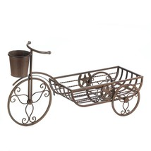 Flower Planters, Modern Iron Bicycle Outdoor Large Planters - $46.33