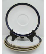 """Spode Consul Cobalt Bone China 5 3/4"""" Saucers Set Of  4 Saucers GUC - $38.22"""