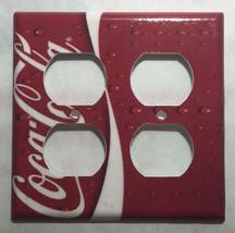 Coke Coca Cola Logo Light Switch Power Outlet wall Cover Plate Home decor image 7