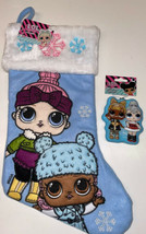 Blue LOL Surprise Dolls Christmas Holiday Stocking & Shatterproof Orname... - $21.99