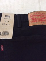 NWT Mens Levis Black Wash 54 x 30 Relaxed Jeans - $26.91