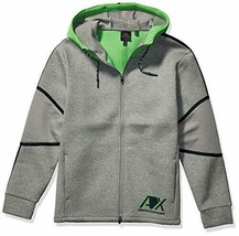 A|X Armani Exchange Men's Hooded Zip up Sweatshirt, BROS BC09 Outs/C. GR, XXL - $74.24
