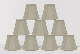 "Urbanest Cream Chandelier Mini Lamp Shades Bell Softback 3""x5""x4.5"", set of 9 - $39.59"