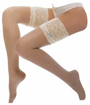 Deep Lace top Hold ups with Blue Bow, wedding  by leading Designer, J - $7.97