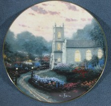 Blossom Hill Church Collector Plate Thomas Kinkade Thomashire Series wit... - $39.95