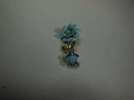 Blue Enamel & Faux Pearl Flower & Pot Pin - $10.88