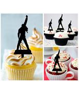 Mu11 Decorations cupcake toppers freddie mercury silhouette Package : 10... - $10.00