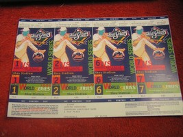 MLB New York Mets World Series Full Unused Ticket Stub Sheet Games 1, 2,... - $14.36