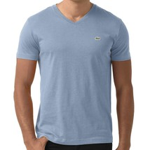 NEW LACOSTE MEN'S SPORT PREMIUM PIMA COTTON V-NECK SHIRT T-SHIRT BLUE SQUADRON