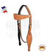 Western Horse Headstall Tack Bridle American Leather Tan Hilason U-9-HS - $64.34