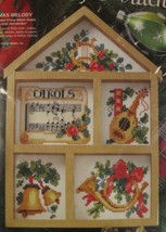 Bucilla Holiday Hutch Christmas Melody Sealed Counted Cross Stitch Kit 7x10  - $17.95