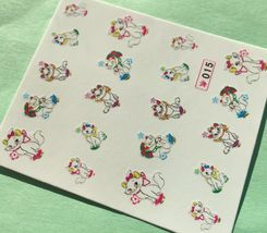 Bang Store Nail Art Water Decals Cute White Kitten Cat Funny And Cute - $3.67