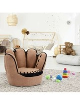 Wood & Suede Kids Baseball Glove Chair (a) m8 - $494.01