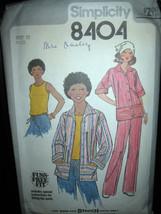 Vintage Simplicity #8404 Misses Unlined Jacket/Top/Pants Pattern - Size 12 - $7.13