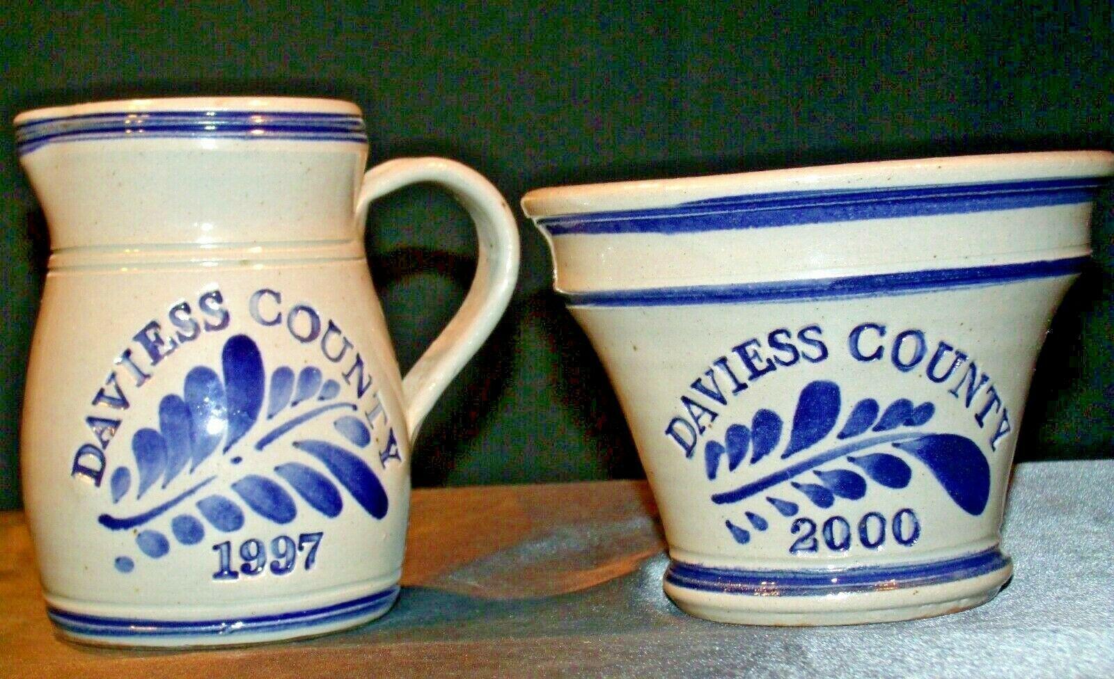 Daviess County Westerwald Stoneware Pitcher & Bowl AA-191832