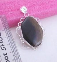 19 Gram Imperial Jasper Stone Silver Overlay Handmade Pendant Jewelry_209 - $3.47
