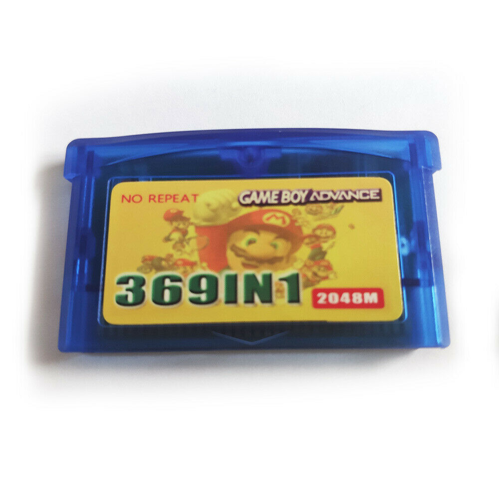 369 in 1 Multicart GBA Game Boy Advance SP Pokemon Mario DK SHIPS FAST