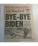 New York Post September 23 1987 Bye-Bye Biden Joe Pulls Out of Race N2 - $999.99