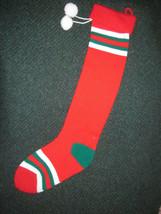 "KURT S. ADLER CHRISTMAS STOCKING Lot of 2 STRIPED 27"" and 24"" VINTAGE 1983 - $14.24"