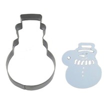Stainless Steel Cookie Cutter Mold + Appropriate Cookie Spray/Brush Patt... - $10.68