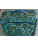 Vintage Vinyl & Tapestry Overnight Bag - VGC - GREAT COLOR & STYLE - GRE... - $49.49