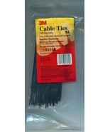 "100 PIECE 3M STANDARD Cable Ties 6"" inch Black - Weater Resistant - #53169 - $4.00"