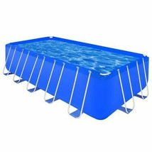 "vidaXL Above-ground Swimming Pool Steel Rectangular 17' 9""x 8' 10""x4' Spa - $531.99"