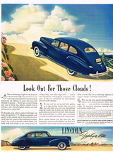 Vintage 1936 Magazine Ad Lincoln Zephyr V-12 Riding High Look Out For Clouds - $5.93